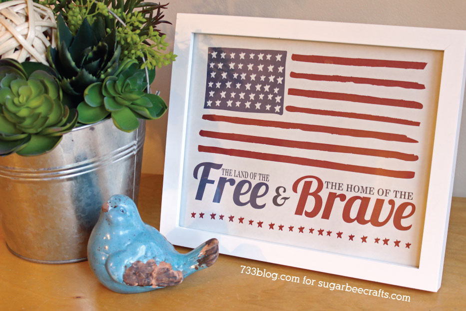 Star Spangled Banner Inspired Printable by @733blog