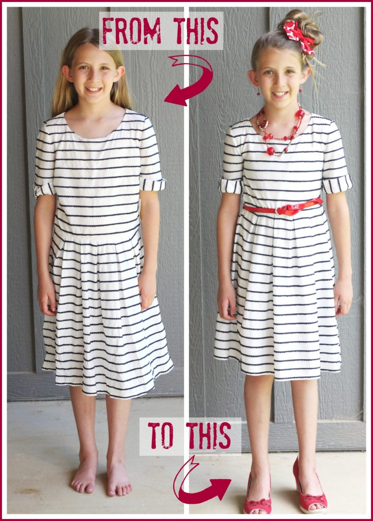 altered thrift store dress