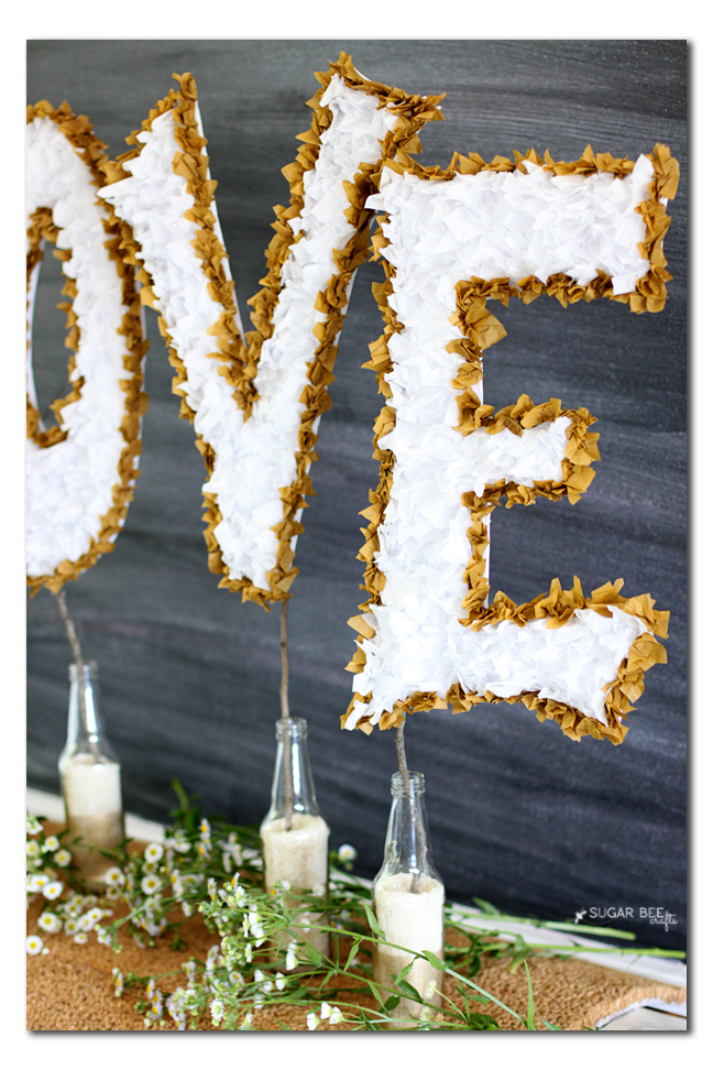 make your own wedding decor love copy