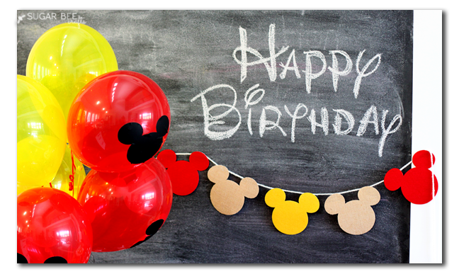 mickey mouse happy birthday diy balloons