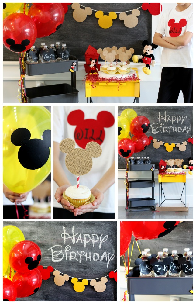 mickey mouse party crafting