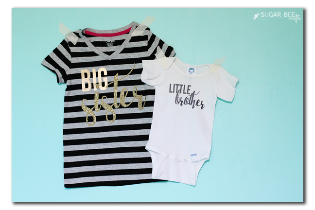 big sister little brother diy tshirt