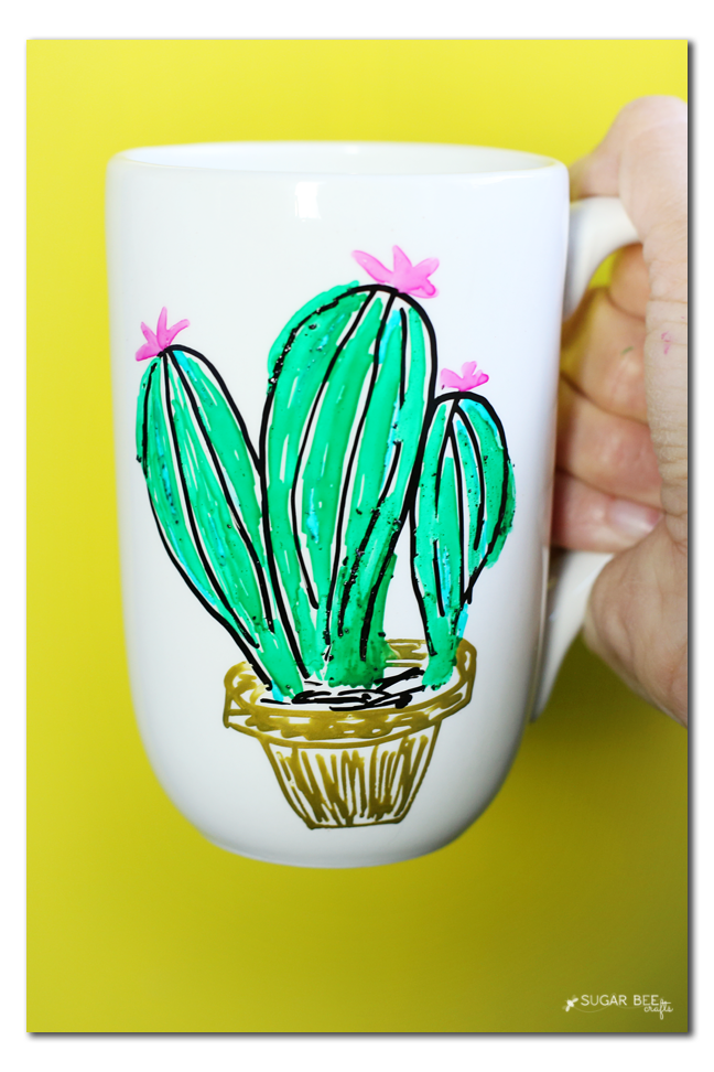 diy cactus mug marker