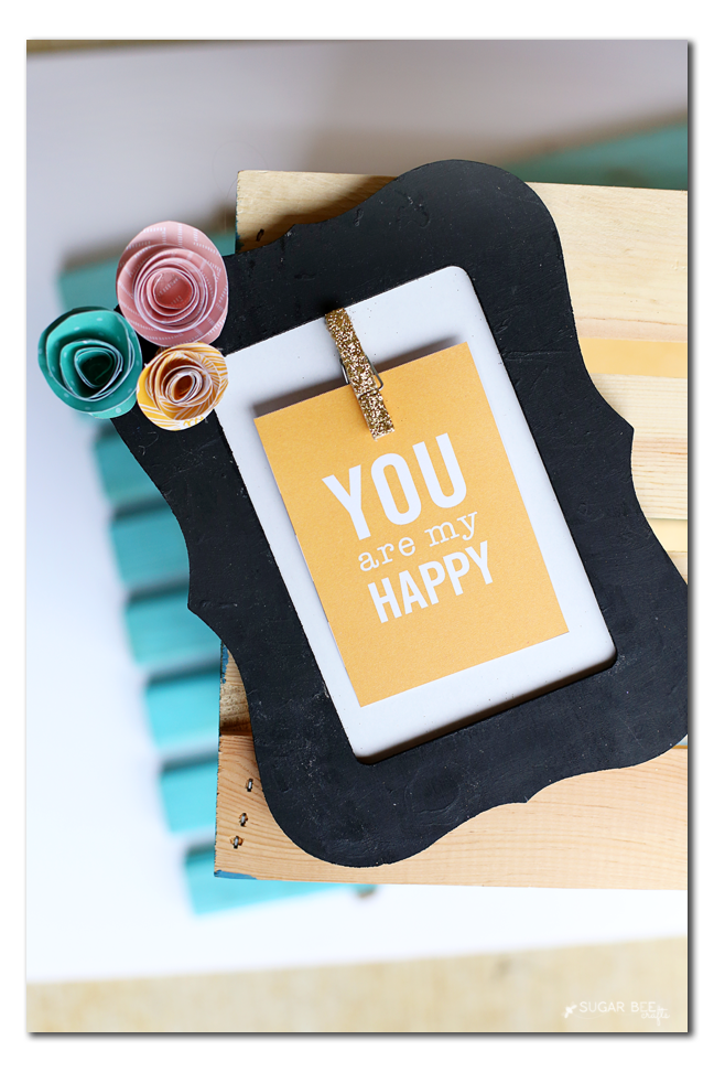 how to make an inspirational interchangeable frame