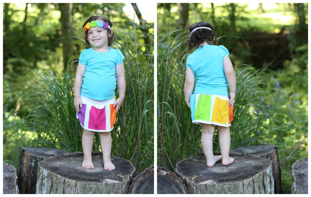 pocket skirt front and back