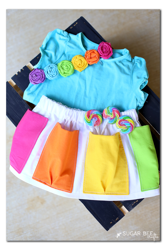 pocket skirt rainbow how to make