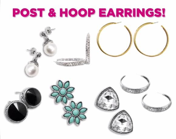 paparazzi post hoop earrings