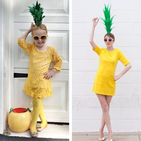 Super easy diy pineapple costume sugar bee crafts diy pineapple costume1 600x600 solutioingenieria Image collections