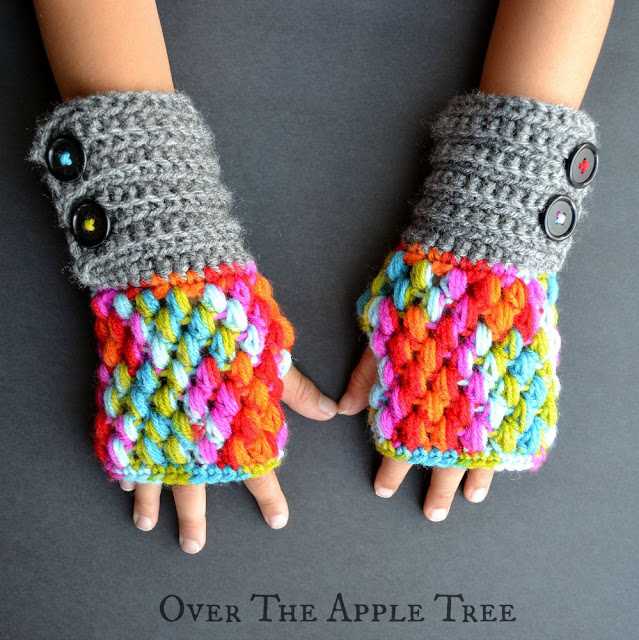 Diy Fingerless Crochet Gloves Sugar Bee Crafts