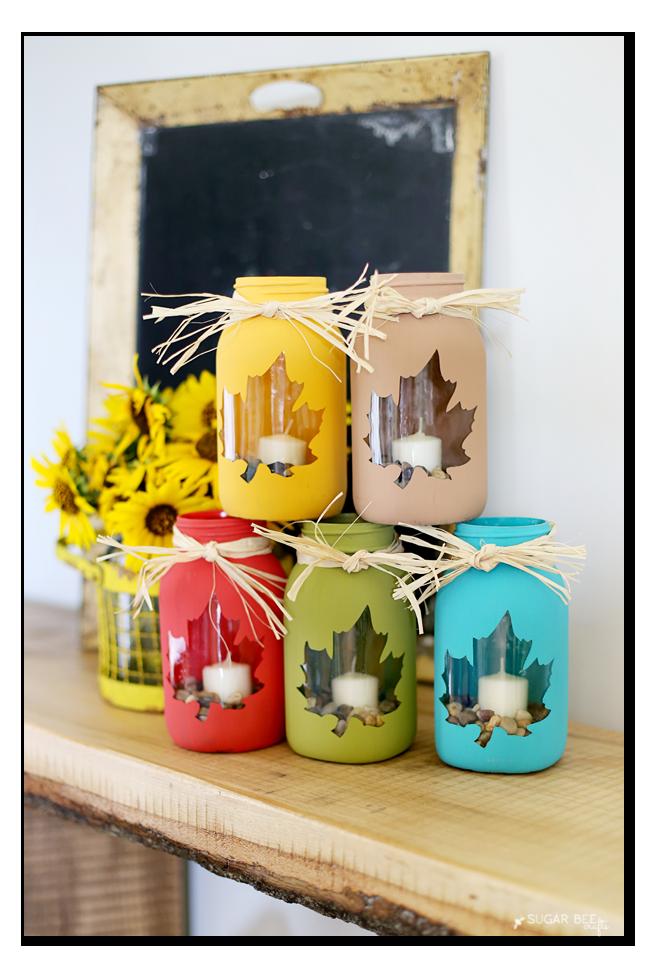fall mason jar craft idea