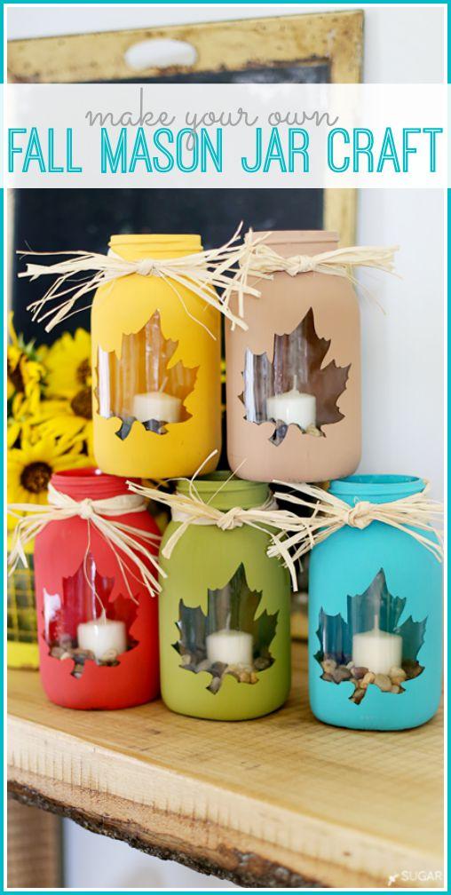 make your own fall mason jar craft