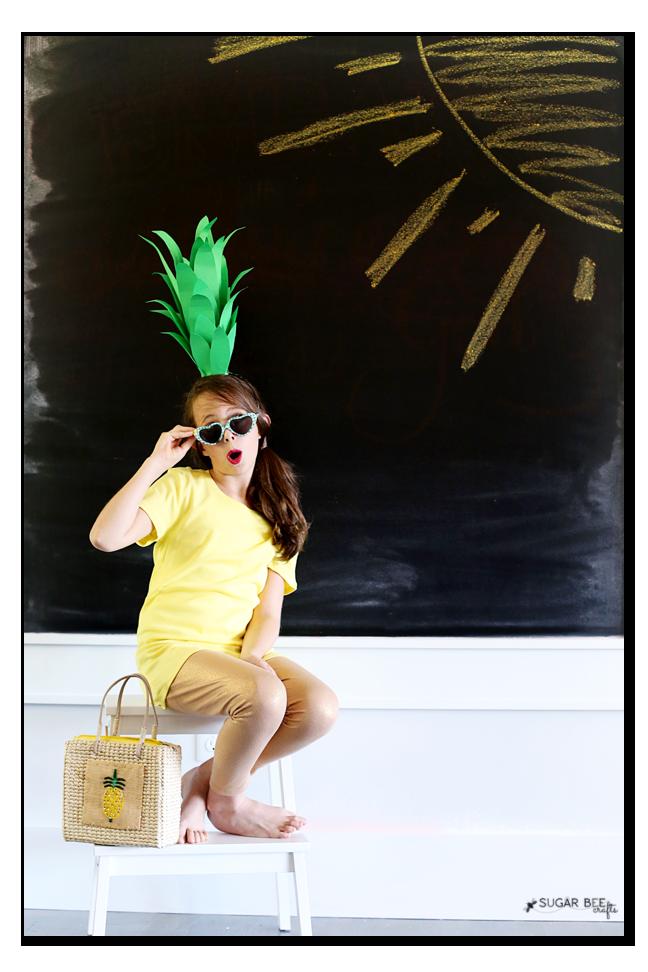 simple halloween costume pineapple