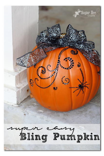 super easy bling pumpkin decor
