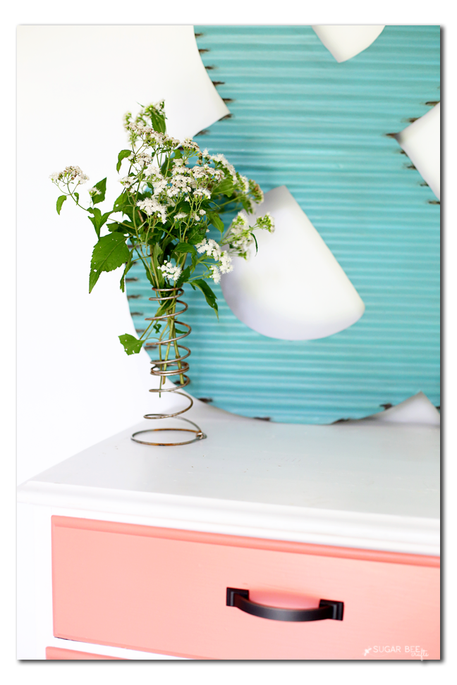 vintage bedspring flower vase