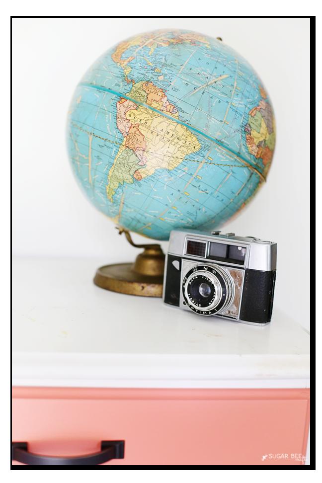 vintage globe camera