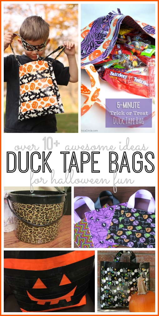 Duck tape bags for halloween duct tape