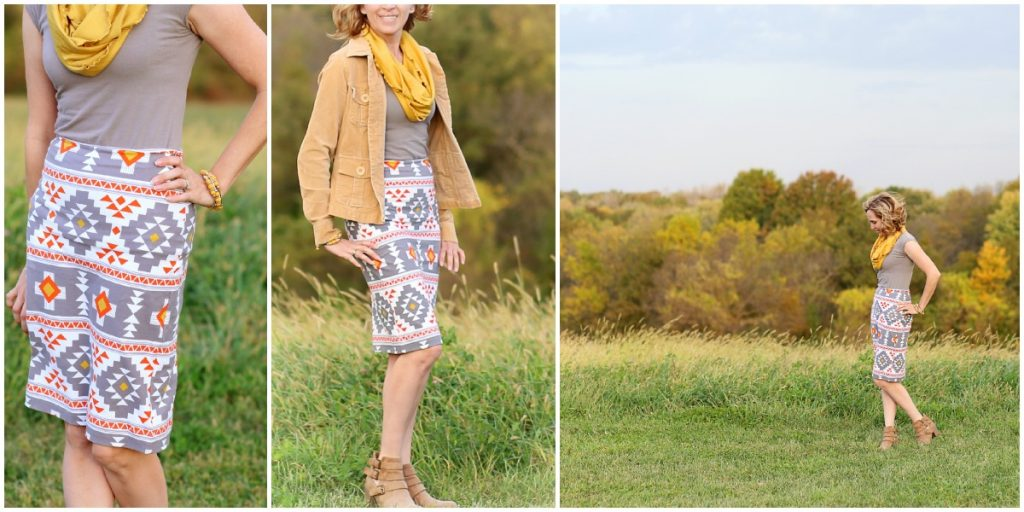 four corners knit pencil skirt