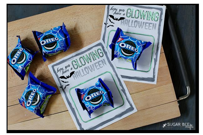 glowing halloween free printable