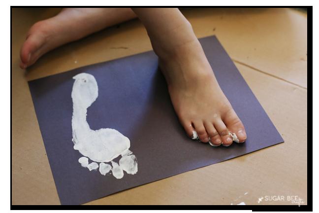 making ghost foot print