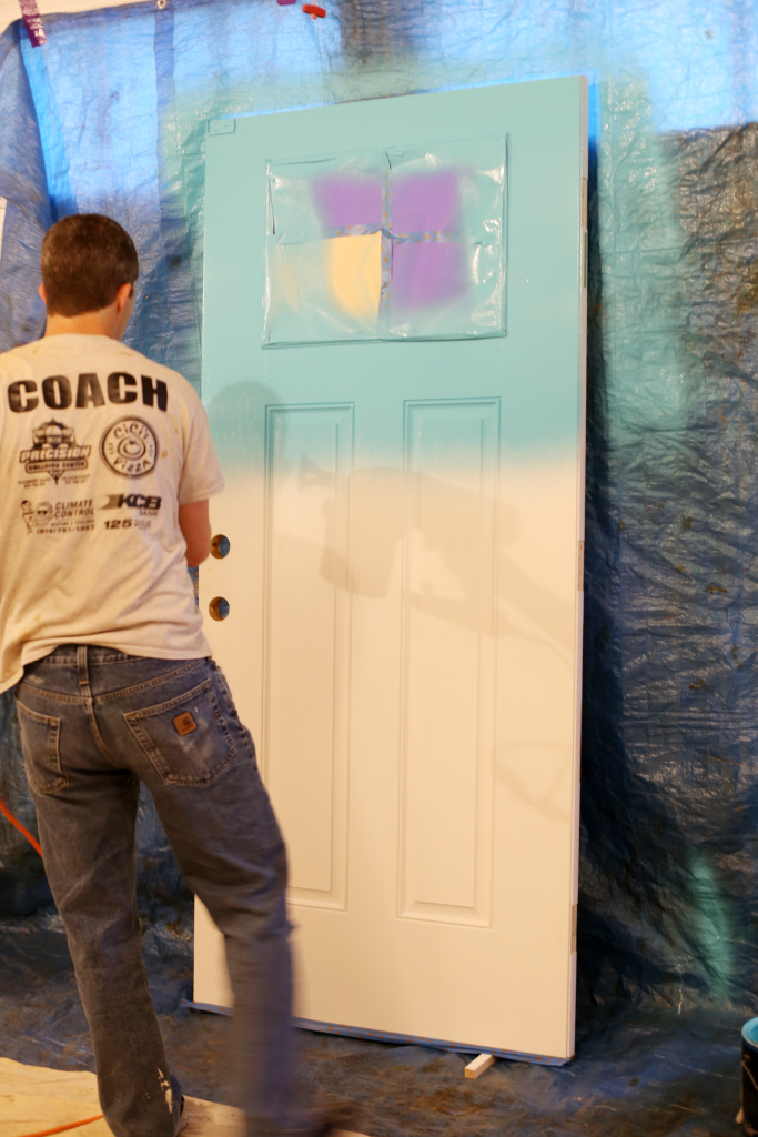 paint sprayer front door