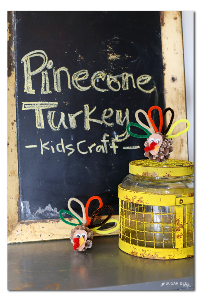 make a pinecone turkey