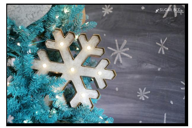 metal snowflake marquee