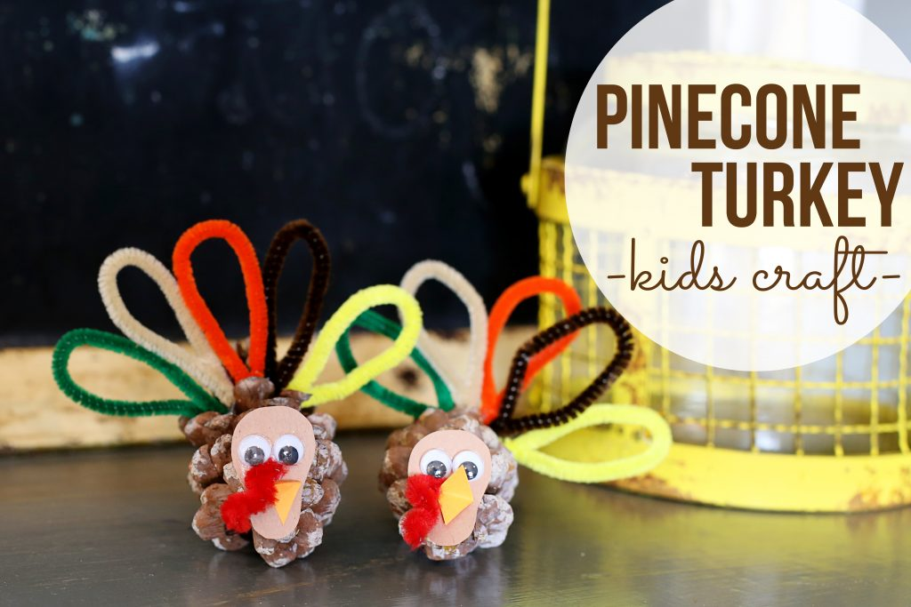pinecone turkey kids craft