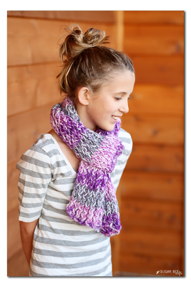 tween loom knit scarf