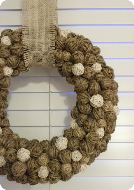 Holiday Yarn Ball Wreath Ideas Sugar Bee Crafts