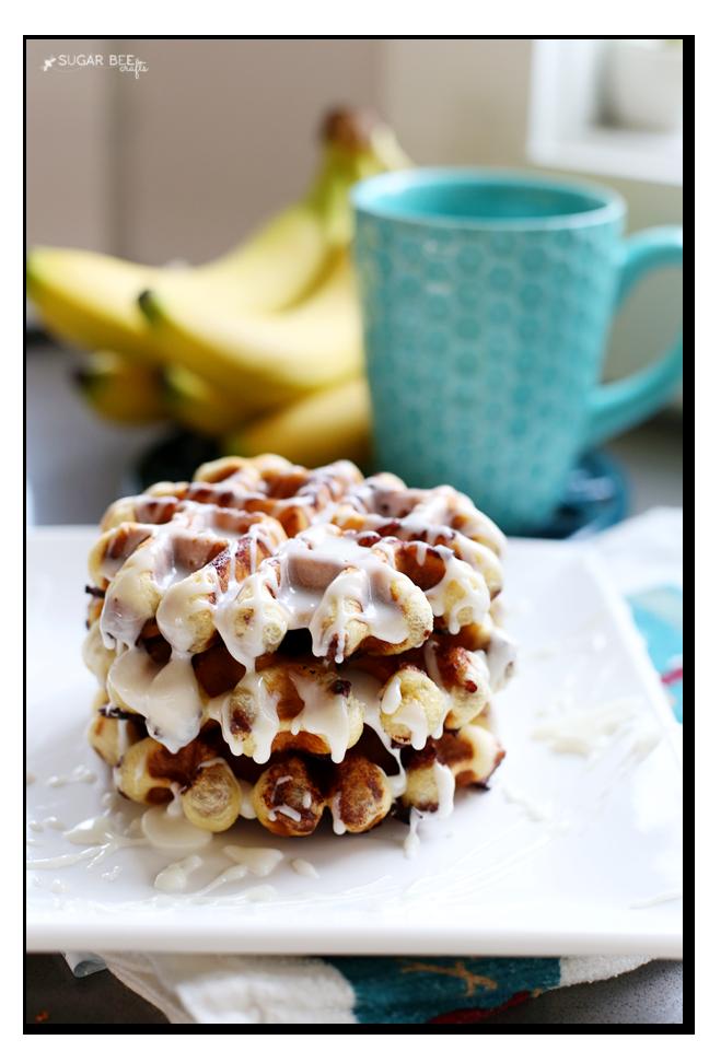 cinnamon roll waffles diy