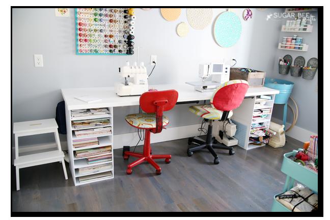 craft room desk michaels storage