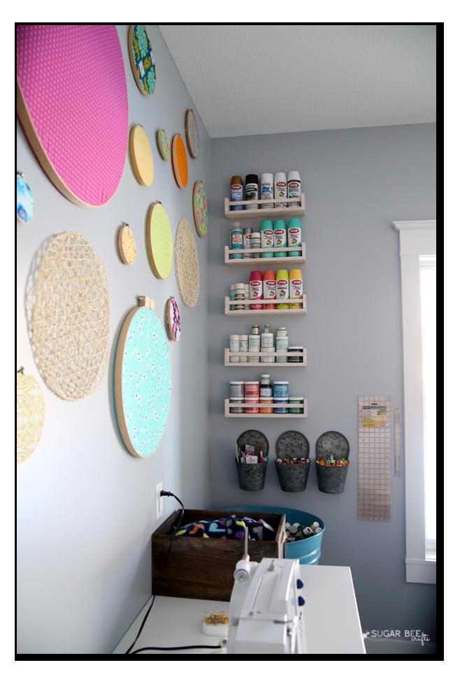 craft room shelves