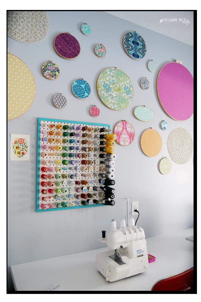 craft room thread holder