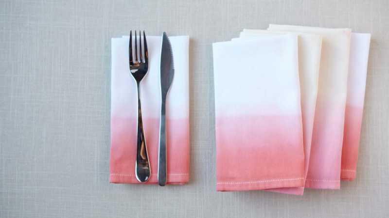 dip dye napkins class