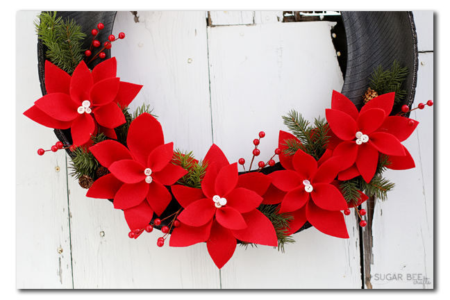 felt poinsettia flowers