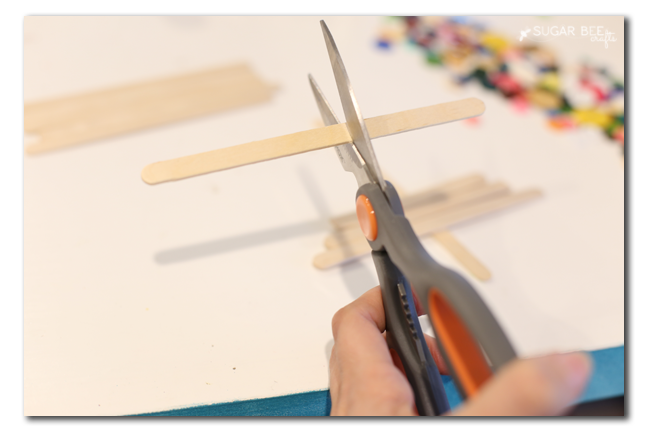 how to cut popsicle sticks