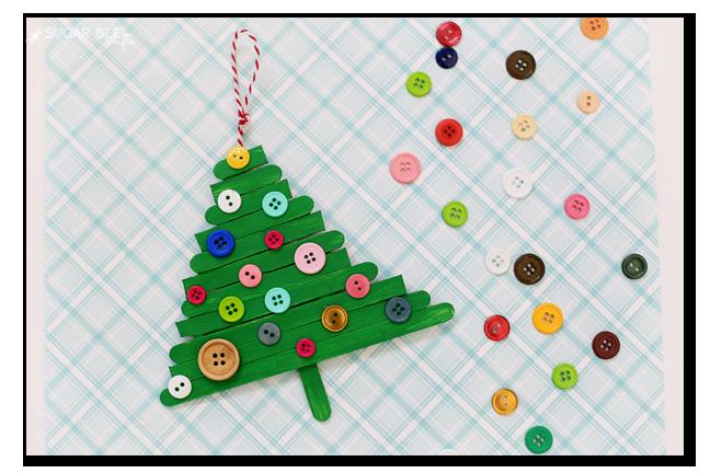 kids christmas tree ornament craft