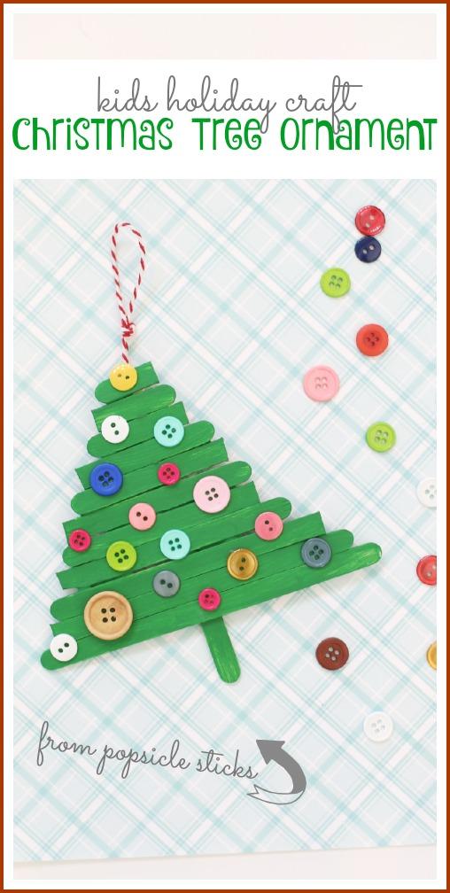 kids holiday craft tree ornament