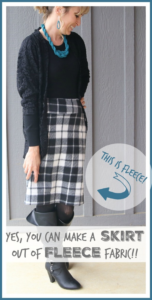 make sew a skirt out of fleece fabric