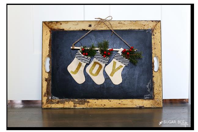 mini joy stocking banner
