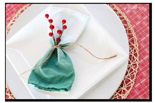 ombre dip dye napkin diy