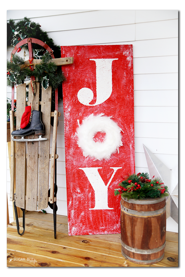 porch holiday decor sign joy