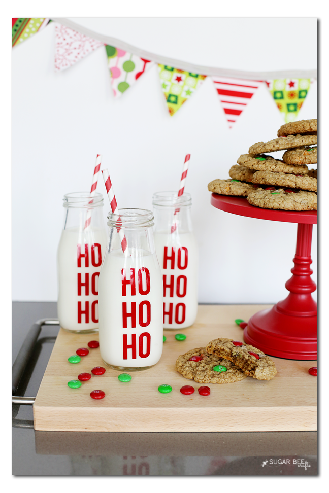 santa milk jar diy ho ho ho