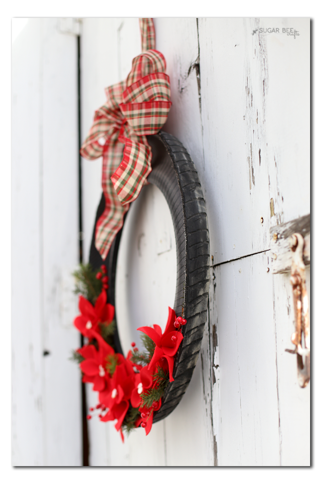 split tire wreath