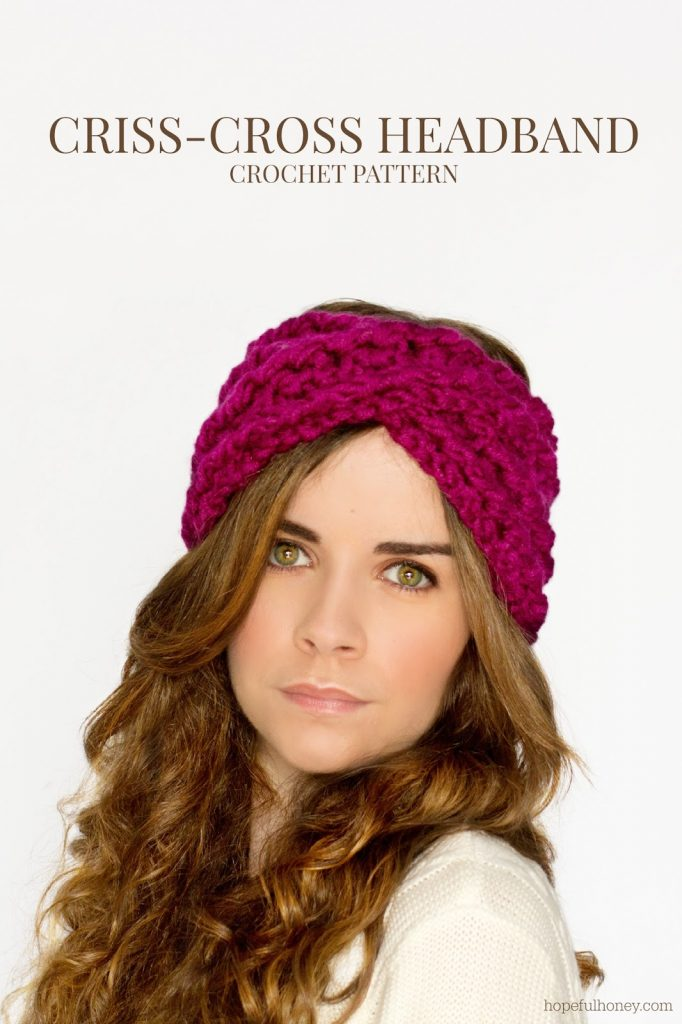 Chunky Criss-Cross Headband Crochet Pattern 3