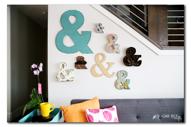 ampersand wall Michaels