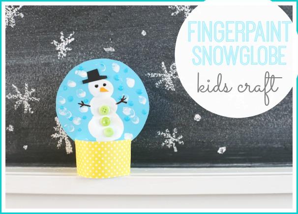 fingerpaint snowglobe