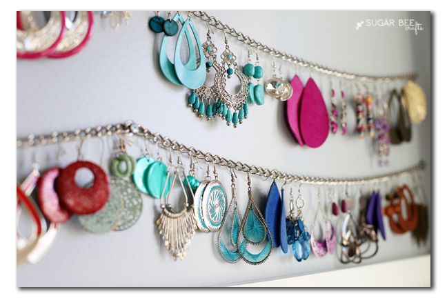 how to organize large earrings