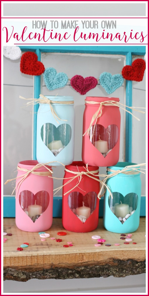 make your own valentine luminaries