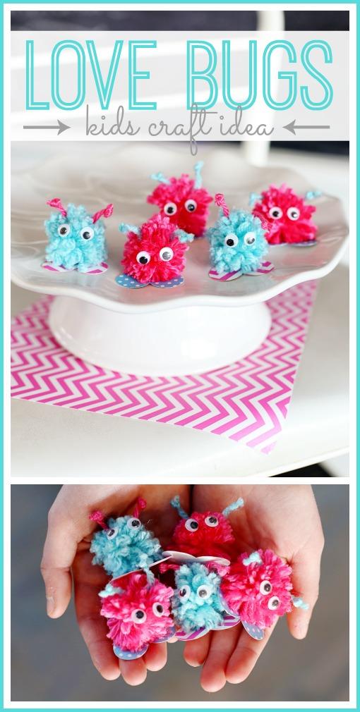 valentine's kid craft idea love bugs